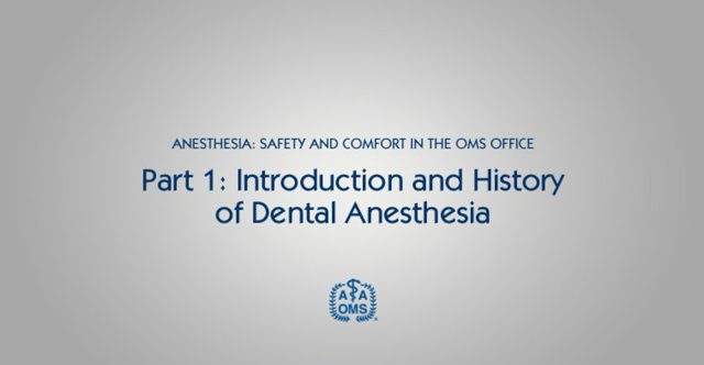 Introduction to Dental Anesthesia